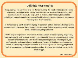 Definitie hospicezorg